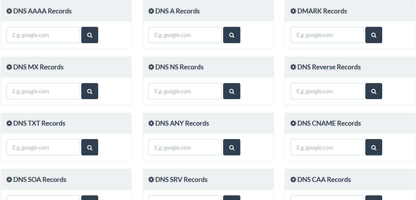 DNS Lookup Tools