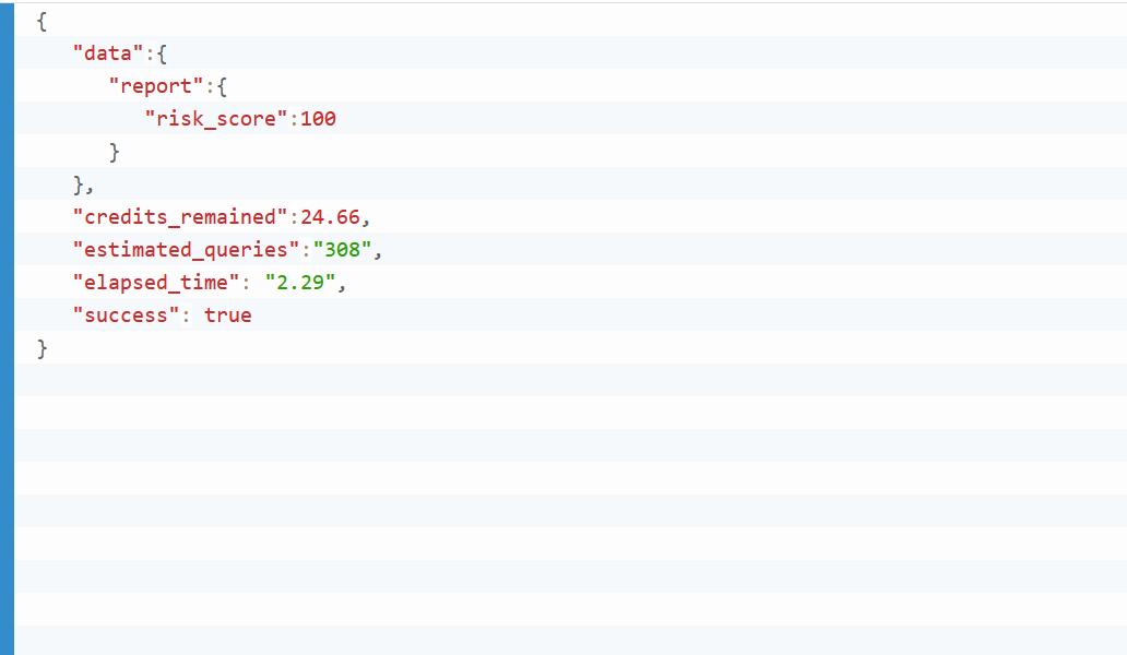 Example JSON API Output